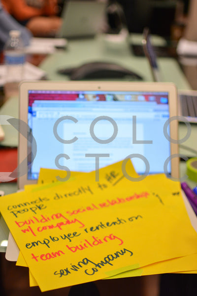 Planning session - laptop and notes 2 - Colorstock™  © Aurelius Creates  - diverse stock photos
