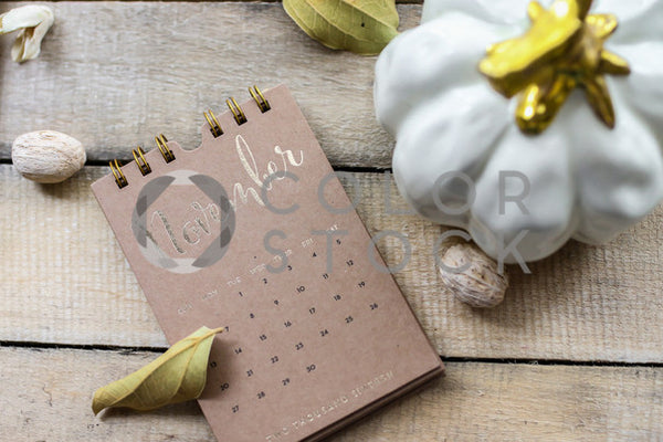 November desk flat lay, Lavish Moments Photography - Colorstock: diverse stock photos