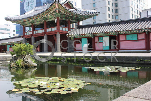 Pond by the  temple, Joneka Percentie - Colorstock: diverse stock photos