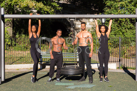 Fit group of exercisers - 4, Click Clique NYC - Colorstock: diverse stock photos