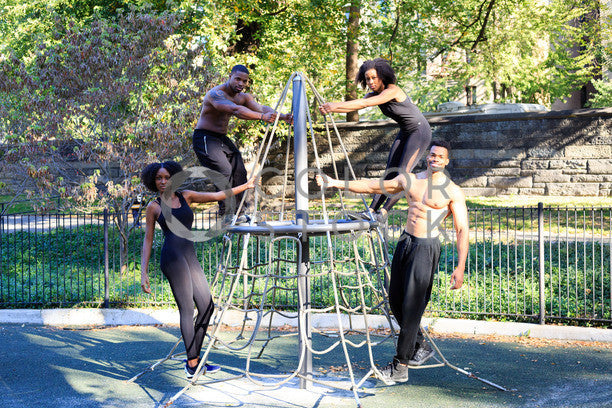 Fitness crew training at city park, Click Clique NYC - Colorstock: diverse stock photos