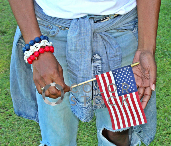Holding US Flag - Colorstock™  © L Danielle Baldwin  - diverse stock photos