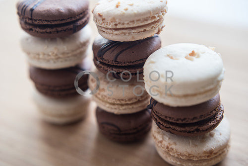 Chocolate and creme macaroons - Colorstock™  © Sirena White  - diverse stock photos