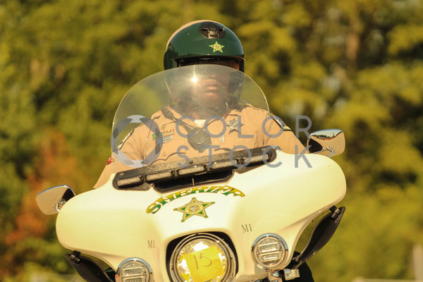 Sheriff on motorcycle