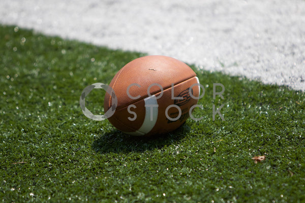 Football on the field