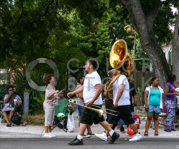 Band members marching in a parade - Colorstock™  © Stephanie Warren  - diverse stock photos