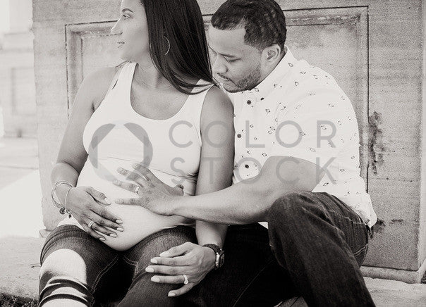 Soon-to-be parents - B&W - Colorstock™  © Sirena White  - diverse stock photos