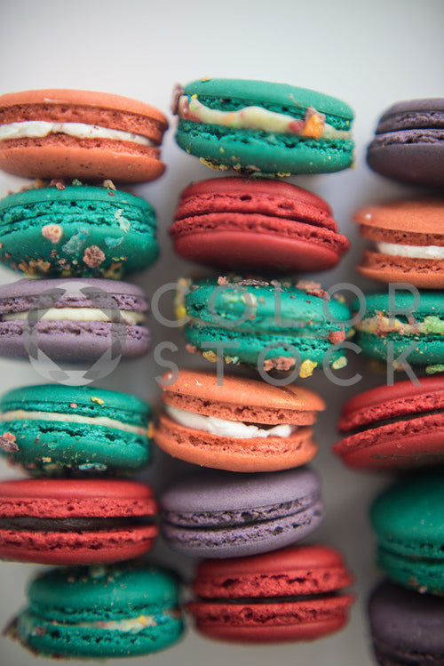 Assorted macaroons - vertical - Colorstock™  © Sirena White  - diverse stock photos