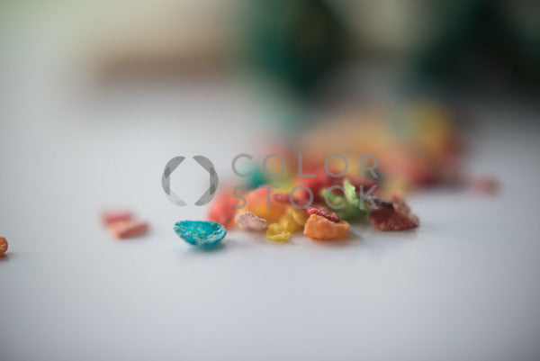 Fruity Pebbles on the counter - Colorstock™  © Sirena White  - diverse stock photos