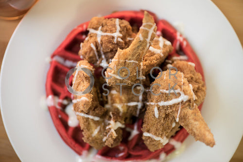 Chicken and waffles plate - 1, Aneris Photos - Colorstock: diverse stock photos