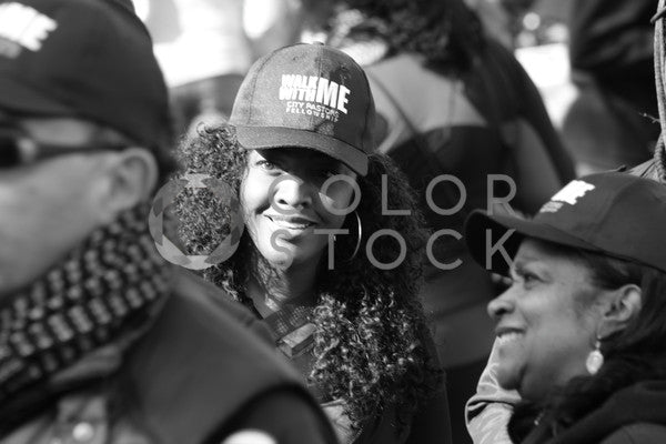 Woman smiling at a peaceful gathering - B&W, Bereket Kelile - Colorstock: diverse stock photos