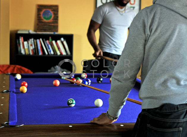 Fellas playing pool, Dream Free Photography - Colorstock: diverse stock photos