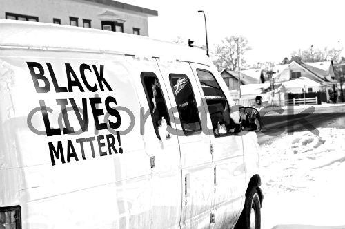Black Lives Matter van - Colorstock™  © David Huff  - diverse stock photos