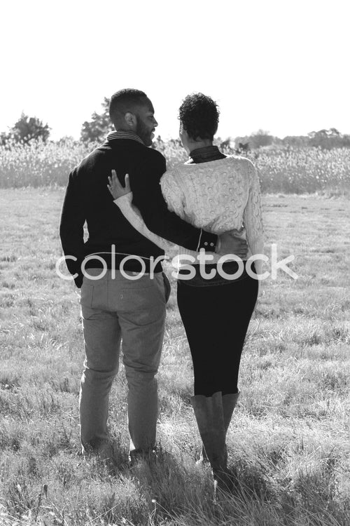 Couple embracing from behind - Colorstock™  © Casha Dees  - diverse stock photos