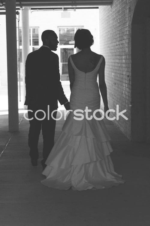 Couple on their wedding day - Colorstock™  © Casha Dees  - diverse stock photos