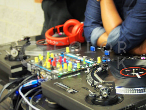 DJ booth & turntables - Colorstock™  © Jenifer Daniels  - diverse stock photos