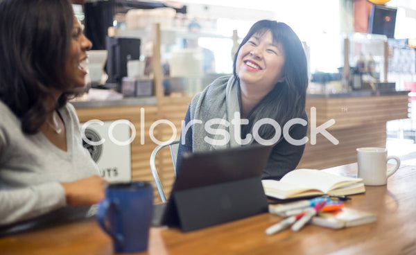 Laughing with friends - Colorstock™  © Shea Parikh  - diverse stock photos