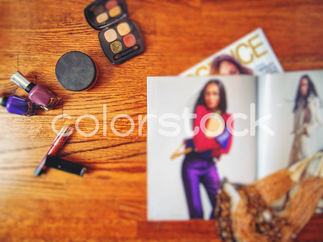 Makeup, magazines and jewelry - Colorstock™  © Jenifer Daniels  - diverse stock photos