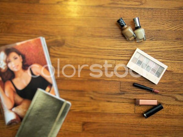 Makeup, nail polish and fashion spread - Colorstock™  © Jenifer Daniels  - diverse stock photos