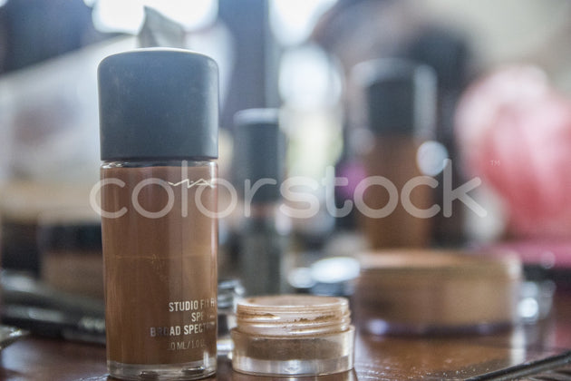 Makeup on counter - Colorstock™  © Integrative Flash  - diverse stock photos