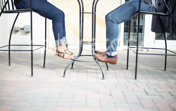 Man and woman jeans and shoes - Colorstock™  © Shea Parikh  - diverse stock photos