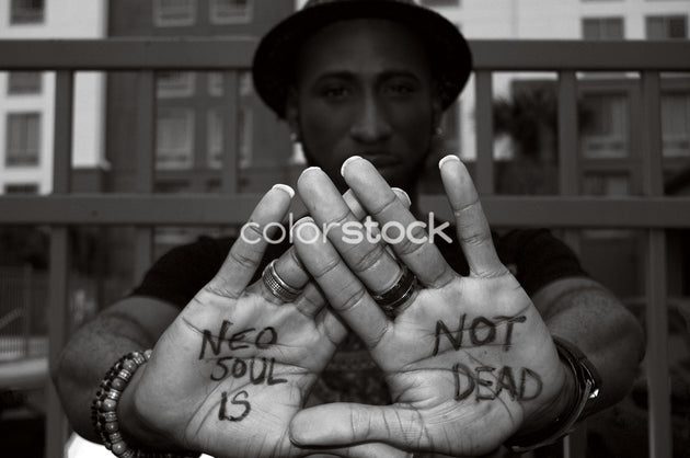 Man with writing on hands - Colorstock™  © Casha Dees  - diverse stock photos