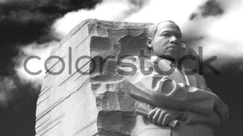 Martin Luther King Jr. monument in black and white - Colorstock™  © David Huff  - diverse stock photos