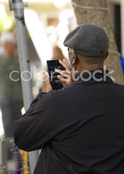 Older man on his smartphone - Colorstock™  © David Huff  - diverse stock photos