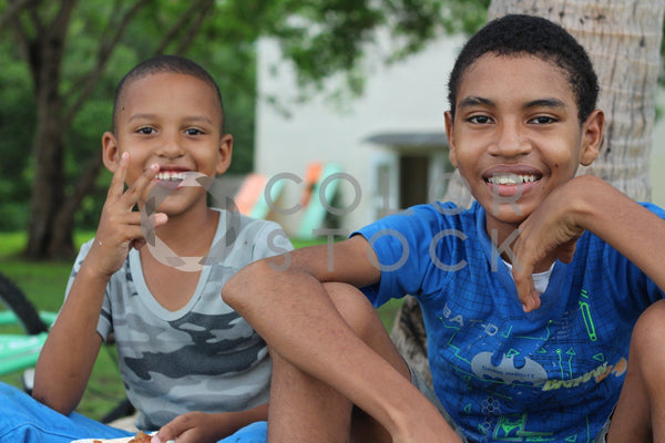 Panamanian boys in the city - Colorstock™  © Dahlia Dreszer  - diverse stock photos