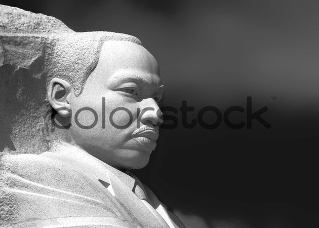 Profile of Martin Luther King Jr. monument in black and white - Colorstock™  © David Huff  - diverse stock photos