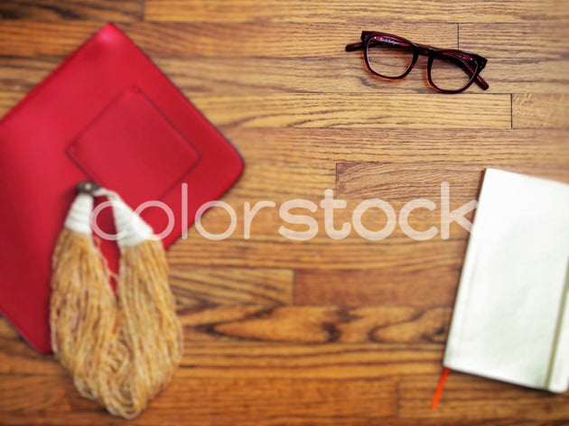 Purse, necklace, glasses and notebook - Colorstock™  © Jenifer Daniels  - diverse stock photos