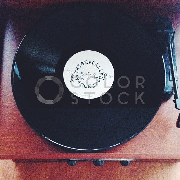 Record player with hip hop album - Colorstock™  © Jenell Hairston  - diverse stock photos