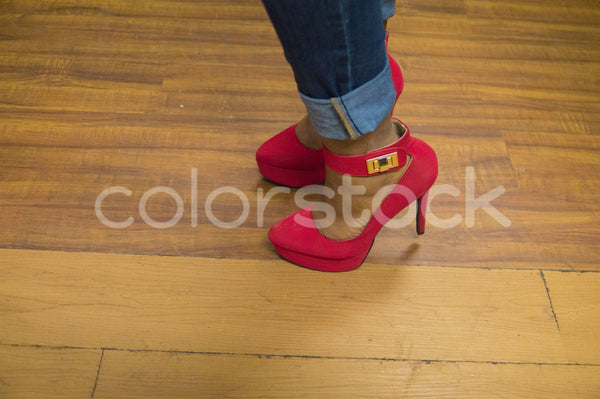 Red high-heeled shoes - Colorstock™  © Integrative Flash  - diverse stock photos