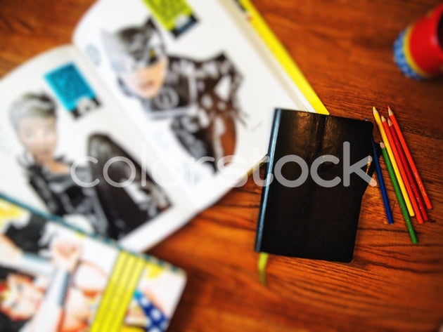 Superhero desktop - Colorstock™  © Jenifer Daniels  - diverse stock photos