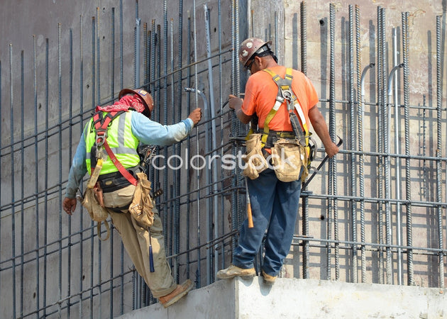 Two construction workers - Colorstock™  © David Huff  - diverse stock photos