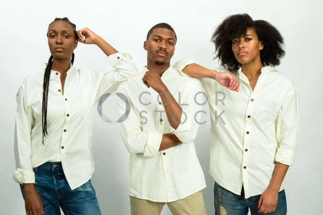 Models - face on - Colorstock™  © Click Clique NYC  - diverse stock photos