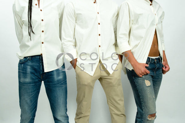 Models - midsection shot - Colorstock™  © Click Clique NYC  - diverse stock photos