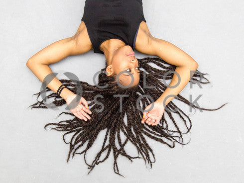 Woman with braids spread out - 2 - Colorstock™  © Click Clique NYC  - diverse stock photos
