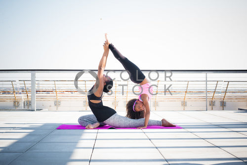 Kid and mom doing yoga - 2, Some Sweet Photography - Colorstock: diverse stock photos