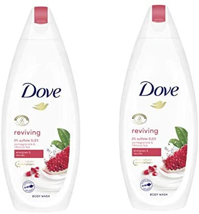 Dove Pomegranate & Verbena Scent Body Wash 225ml (Pack of 2)