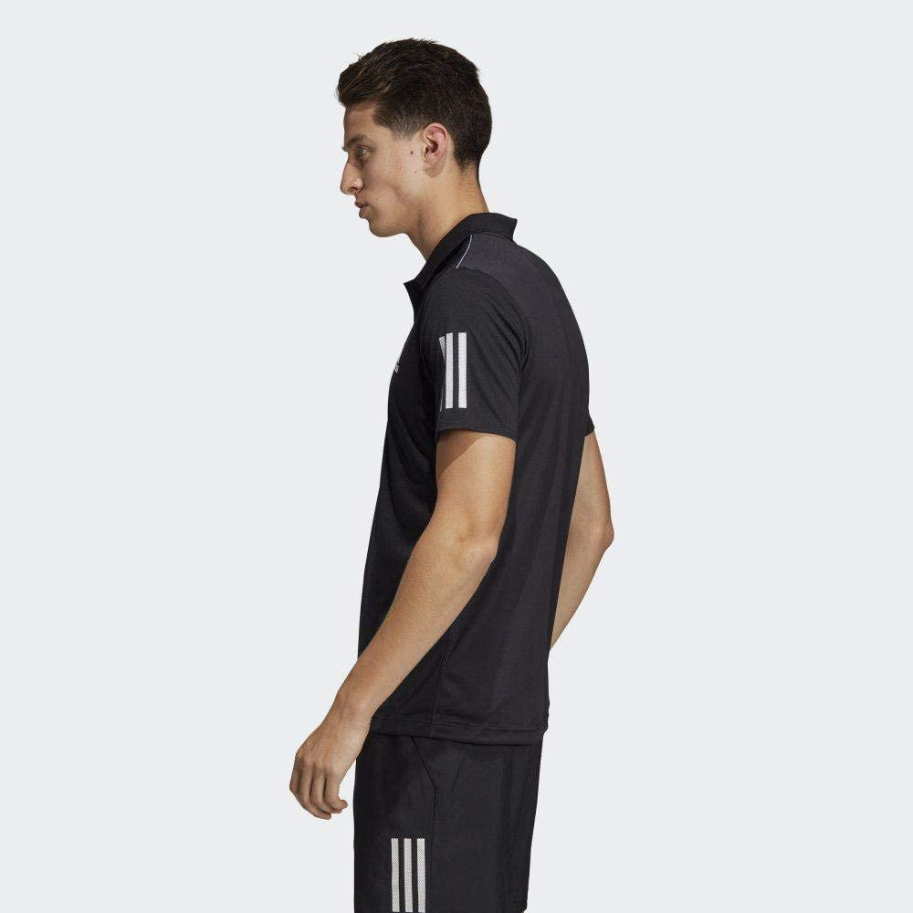 adidas Men's 3-Stripes Club Short Sleeve Short Sleeve Polo Shirt