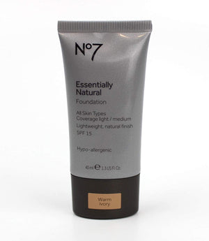 Boots No7 Essentially Natural Foundation 40ml - Warm Ivory