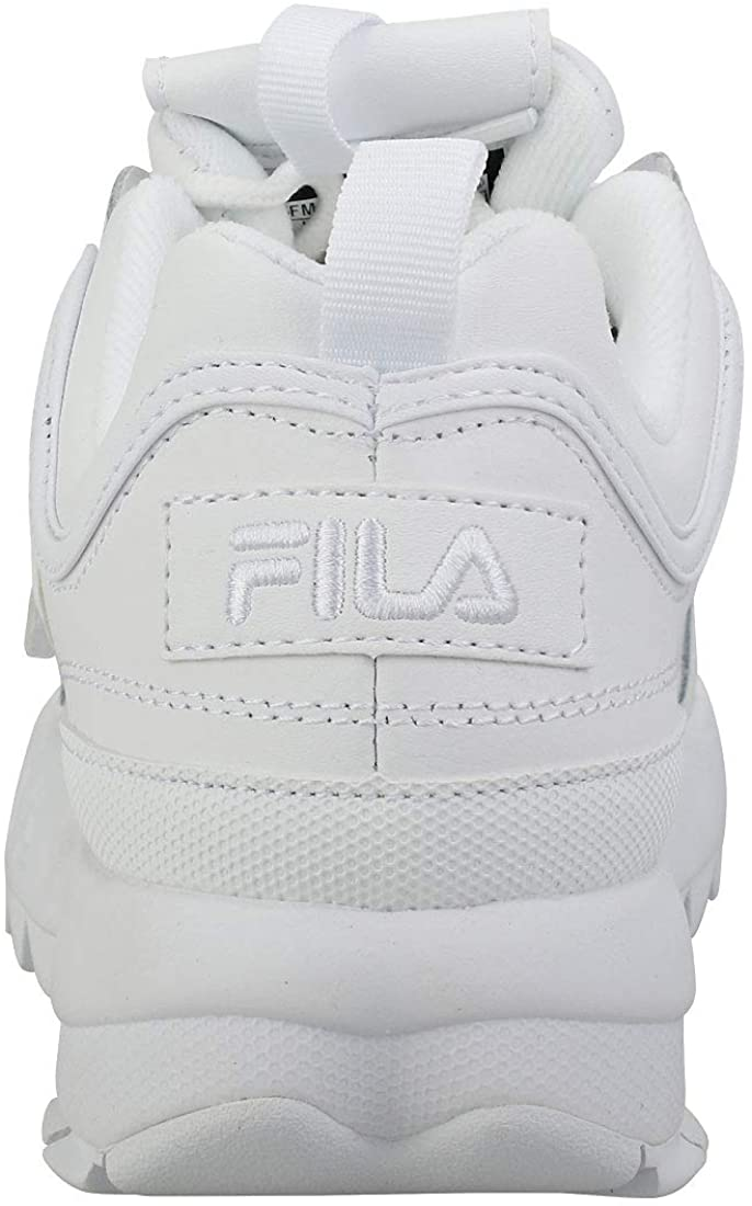 Fila Disruptor 2 Premium Womens Synthetic Material Trainers Yellow/White/Black