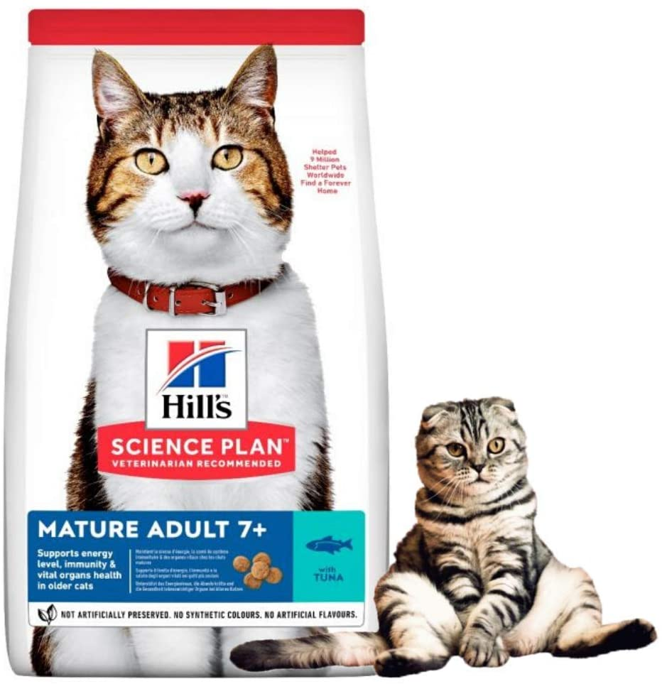 Hill's Science Plan Mature Adult 7+ Dry Cat Food Tuna Flavour
