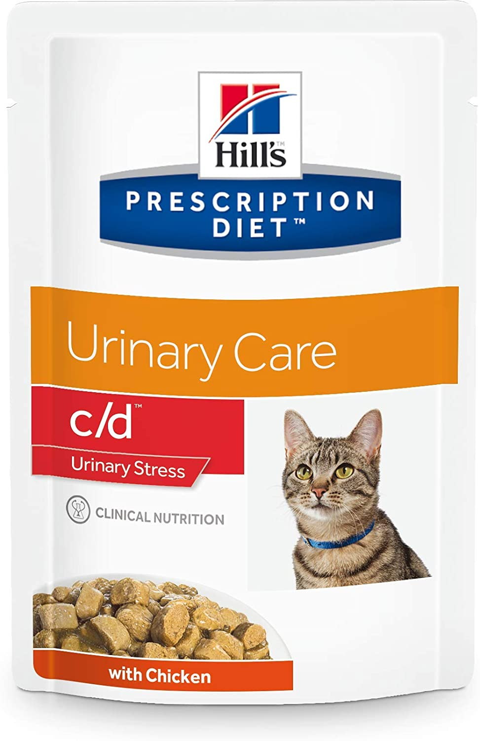 Hills Feline C/D Multicare 12 X 85G Pouches Chunks In Gravy With