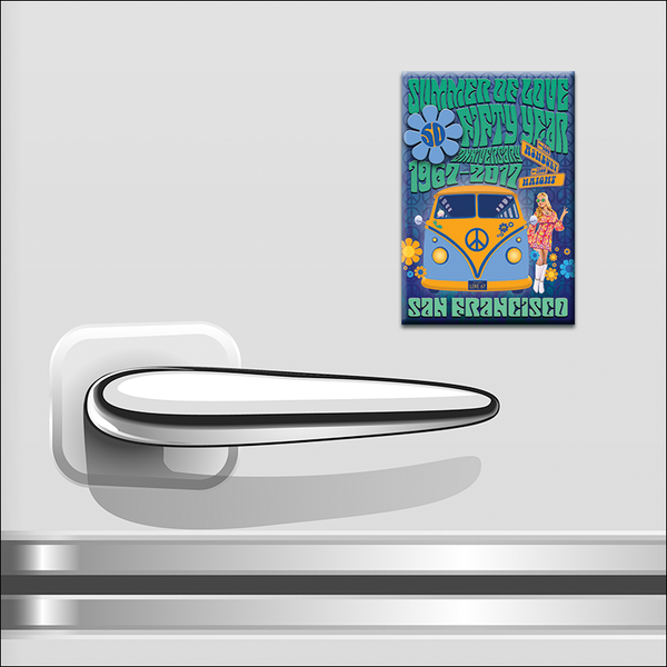 "GF23F - 2"" x 3"" Summer Of Love 50th Anniversary #1 Magnet"