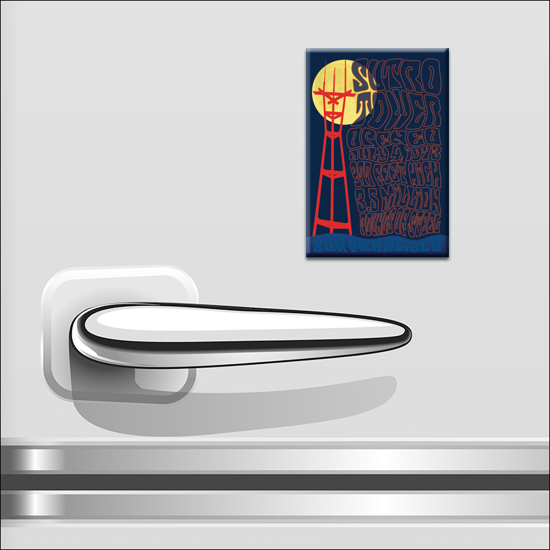 "GF27F - 2"" x 3"" Sutro Tower Moon Magnet"