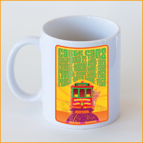 Psychedelic 'Summer Of Love' Cable Car Coffee Mug