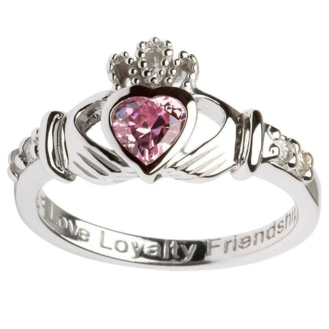 Claddagh Birthstone Ring | October