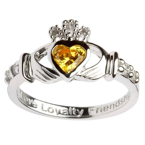 Claddagh Birthstone Ring | November